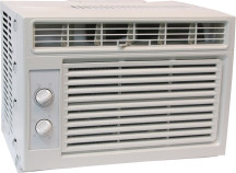 Window Air Conditioner Adjustable air direction, energy saver mode. Electro-mechanical, seven position control. Includes window mounting kit. 5,000 BTU. (4415709) (RG-51M) product image.